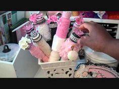 Altered Vintage bobbins - Decorative Lace Storage SSCRAFTER1 YouTube 2.45 min.