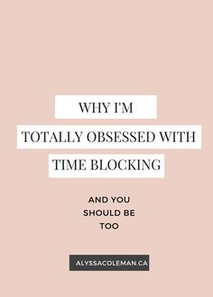Creative entrepreneur, use time blocking as your secret weapon to change your business!