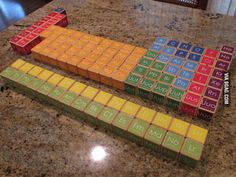 A friend of mine handmade all 118 elements into periodic table blocks for her young niece.