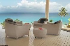 The deck at the Grand Villa - Taveuni Palms Outdoor Sofa, Outdoor Furniture Sets, Outdoor Decor, Travel To Fiji, Palm Resort, Adventure Of The Seas, Best Resorts, South Seas, Turquoise Water