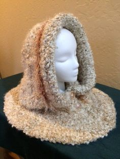 Women's+Crocheted+Hooded+Cowl+by+Gmaswoodlandwhimsy+on+Etsy