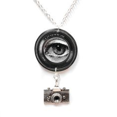Lens Necklace, $24, now featured on Fab. By Tilly Bloom