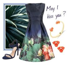 """""""May I kiss you ?"""" by mia-de-neef ❤ liked on Polyvore featuring Kate Spade and Pure Navy"""