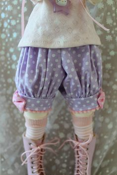 Pick Your Size - Fairy Kei Bloomers Purple and Pink Cute Lolita BJD Doll MSD YoSD Art Body Kaye Wiggs SD Super Dollfie Minifee op Etsy, 15,20 €