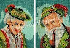 Cod produs Baronul si Baroana Culori: 17 Dimensiune: 7 x Pret: lei Baseball Cards, Grandchildren, Punto De Cruz, Embroidery