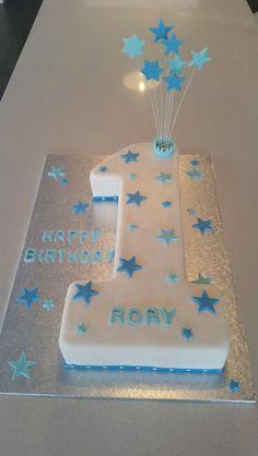 Baby first birthday cake boy fondant 54 Ideas Number 1 Birthday Cake Boy, Number One Cake, Baby First Birthday Cake, Birthday Wishes Cake, Baby Boy Cakes, Cakes For Boys, Cake Shapes, First Birthdays, Erdem