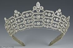 The Greville Tiara, a favorite of the Queen Mother, now worn by the Duchess of Cornwall.