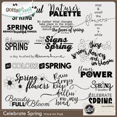 Pixel Club Exclusive Celebrate Spring Word Art Pack