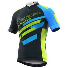 Men's Short Sleeve Cycling Jersey Full Zip Moisture Wicking Breathable Running Tops - Bike Biking Shirt from Fall Football Outfit, Football Fashion, Football Outfits, Football Football, Football Season, College Football, Bike Shirts, Cycling Jerseys, Cycling Outfit