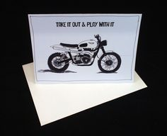 """Triumph Motorcycle Card 