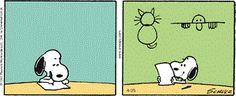 Clip Art: Snoopy writing