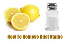 Remove rust stains from your tub with a simply diy paste using salt and lemon.