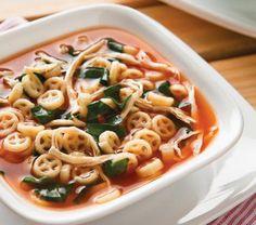 Sopa de pasta con espinacas | Cocina Vital