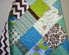 brown green turquoise quilt - Google Search