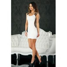 Mini Dress w/Shoulder and Side Straps