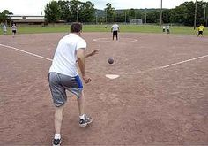 Kickball - We used to play everyday with the neighbourhoob kids. Of course, it wasn't as fancy as it looks in this picture