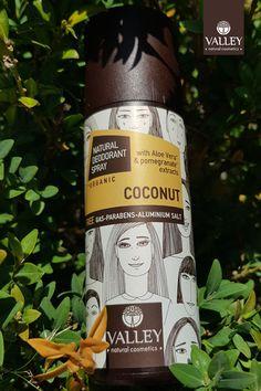 Με το γλυκό, κρεμώδες άρωμα της ώριμης τροπικής καρύδας. Για προστασία, ανανέωση και αίσθηση καλοκαιρινής φρεσκάδας όλη την ημέρα. Σε 12 υπέροχα γευστικά αρώματα. ΔΙΑΘΕΣΗ: Γαλαξίας, Σκλαβενίτης, Hondos Center, My market Honest Tea, Natural Deodorant, Natural Cosmetics, Pomegranate, Aloe, Coconut, Drinks, Bottle, Nature