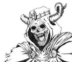 The lich king from adventure time carson drew for Lich king tattoo