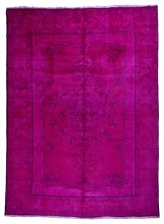 Overdyed Hot Pink Persian Semi Antique Rug, 6.5x9.25 Ft. traditional-area-rugs