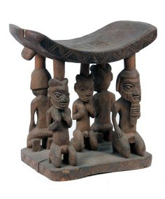 Headrestl from the Yoruba people of Nigeria | Wood | 20th century . Africa .