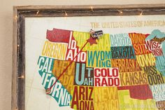Plan your next roadtrip with some put-you-on-the-map wall décor. We amped up our version with a length of yarn, a foam star and a handful of happy papercrafting embellishments
