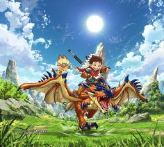 El Anime Monster Hunter Stories anunciado con 48 episodios.