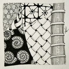 Zentangle-Kachel von Anya Lothrop, CZT www.zentangle-hamburg.de
