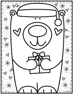 Coloring Club Library — From the Pond Christmas Doodles, Christmas Coloring Pages, Christmas Drawing, Colouring Pages, Coloring Sheets, Adult Coloring, Coloring Books, Preschool Painting, Preschool Art