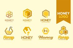 Honey Logo by G7 on @creativemarket