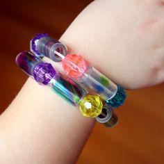 soda bottle bracelets.