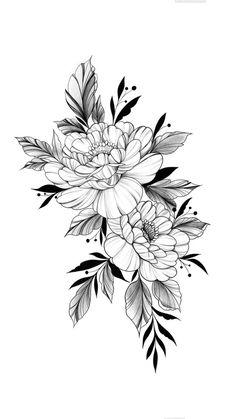Floral Tattoo Design, Flower Tattoo Designs, Flower Tattoos, Body Art Tattoos, Small Tattoos, Sleeve Tattoos, Tatoos, Rose Drawing Tattoo, Flower Tattoo Drawings