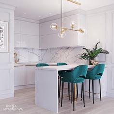 27 Modern Kitchen Interior Design That You Have to Try Modern Kitchen Interiors, Modern Kitchen Design, Home Decor Kitchen, Modern Interior Design, Home Kitchens, Kitchen Ideas, Condo Interior Design, Room Interior, Condo Design