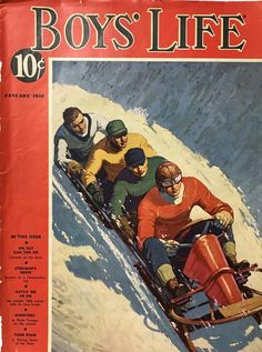 Boys' Life (Published by Boy Scouts of America)Vintage Magazine Cover, January x Good Condition! Boys Life Magazine, Journal Vintage, Rockwell Kent, Vintage Boys, Vintage Children, Scouts Of America, Cub Scouts, Prints For Sale, History