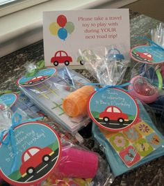 Car Birthday Favors, Stop Light Cookies, Car Track DIY, and Street Letter Sign