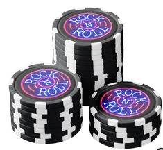 Rock and Roll Poker Chips Set - home gifts ideas decor special unique custom individual customized individualized Custom Poker Chips, Poker Chips Set, Bachelor Party Gifts, Perpetual Motion, Pink Gifts, Pink Fashion, Home Gifts, Rock And Roll, Unique