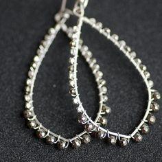 Pyrite and Karen Hill Tribe Silver beaded by CherishedBijou, $62.00