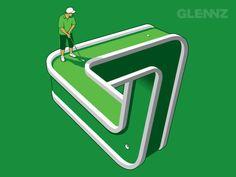 Glennz Tees Designs 2008-09 by Glenn Jones, via Behance