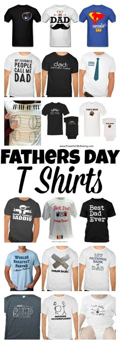 Love these fathers day t shirts to make a long lasting fathers day gift idea!