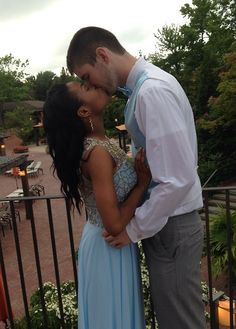 Gorgeous young interracial couple attending prom #love #wmbw #bwwm