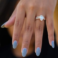 Ladies Rings: Wedding & Engagement Rings – Modern Gents Trading Co. Modern Engagement Rings, Wedding Rings Solitaire, Rose Gold Engagement Ring, Halo Engagement, Engagement Ring Settings, Halo Wedding Set, Gold Wedding, Wedding Bands, Wedding Ideas