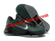 new styles 36dbc 7b466 Nike Zoom Kobe 7(VII) Elite Shoes Dark Green Black Retro Shoes,