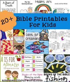 20+ {FREE} Bible Printables for Kids