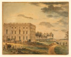 A view of the United States Capitol building in Washington DC before it was burnt down by the British in 1814 diring the War of 1812