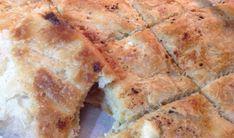 Τυρόπιτα εύκολη, με φύλλα ανοιγμένα στο χέρι χωρίς πλάστη, σαν μπουγάτσα! Burek Recipe, Greek Pastries, Greek Recipes, Health Diet, Banana Bread, Cheese, Cooking, Ethnic Recipes, Sweet