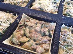 Tartelettes courgettes & champignons #silform