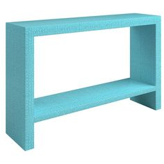 Sutton Place Console - Linen, Grasscloth, Skin or painted finishes (shown in faux croc)