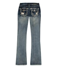 Love this Blue Morocco Bootcut Jeans - Plus on #zulily! #zulilyfinds