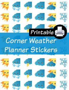 FREE Weather Kawaii Printable Planner Stickers by Planner ...