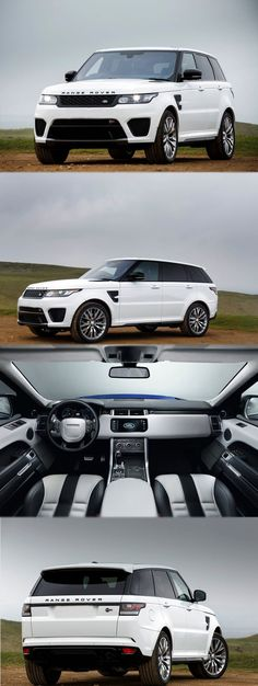 Range Rover Sport SVR. The fastest Land Rover ever. 5.0 Liter Supercharged V8 that produces 550 horsepower. staggering. #ad