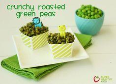 Crunchy Roasted Green Peas |www.superhealthykids.com